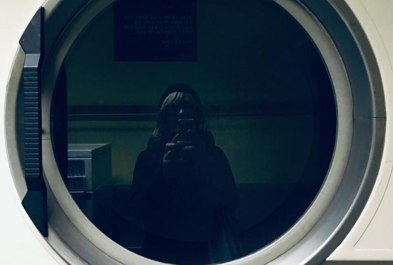 Reflections - mannequin, self portrait and landscape
