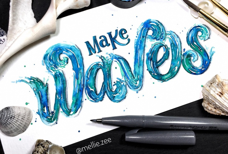 Wave Lettering