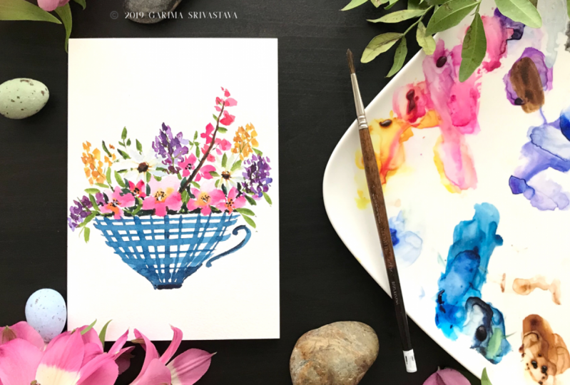 Watercolor Loose Floral Bouquet : Short and Simple Watercolor Project