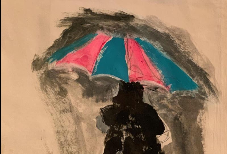Wife in the rain