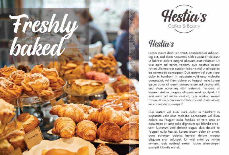 Hestia´s coffee & bakery flyer