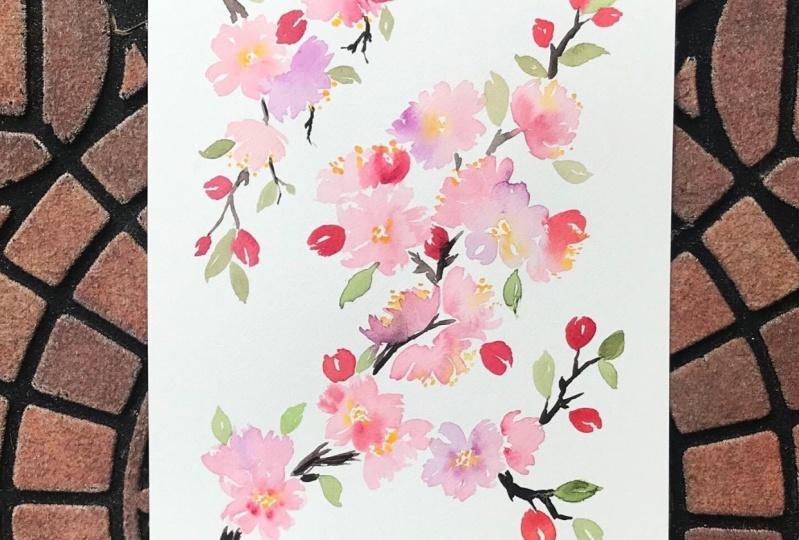 Luminous Cherry Blossoms
