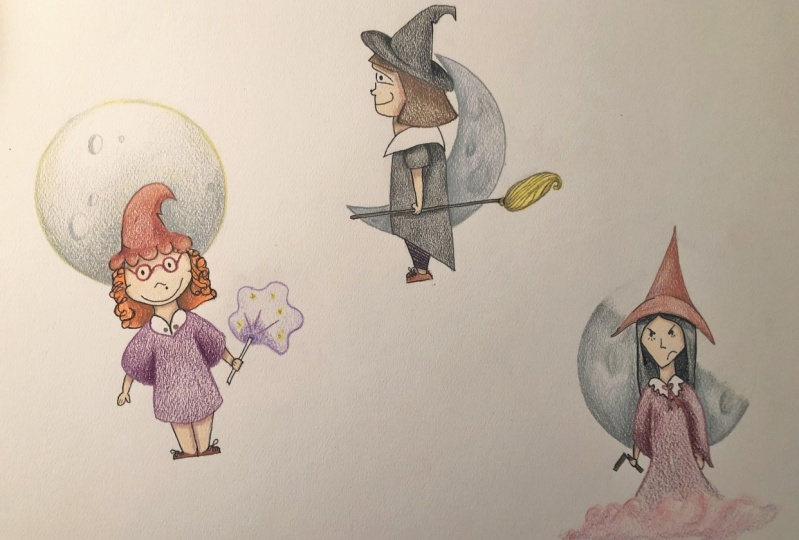 Character Illustration: Witches