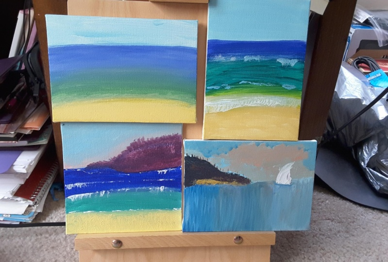 Abstract Acrylic Painting Seascapes