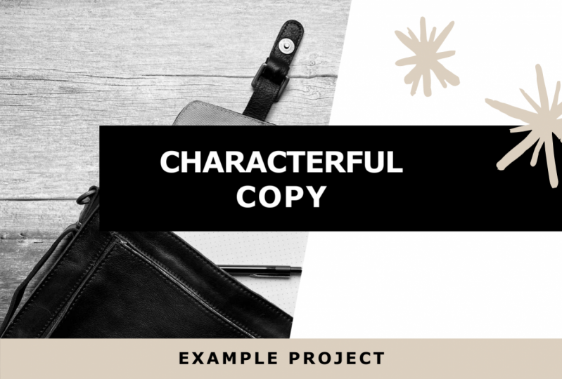 Characterful Copy: Example Project
