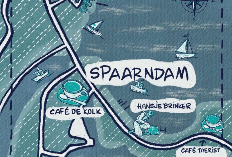 Map of Spaarndam