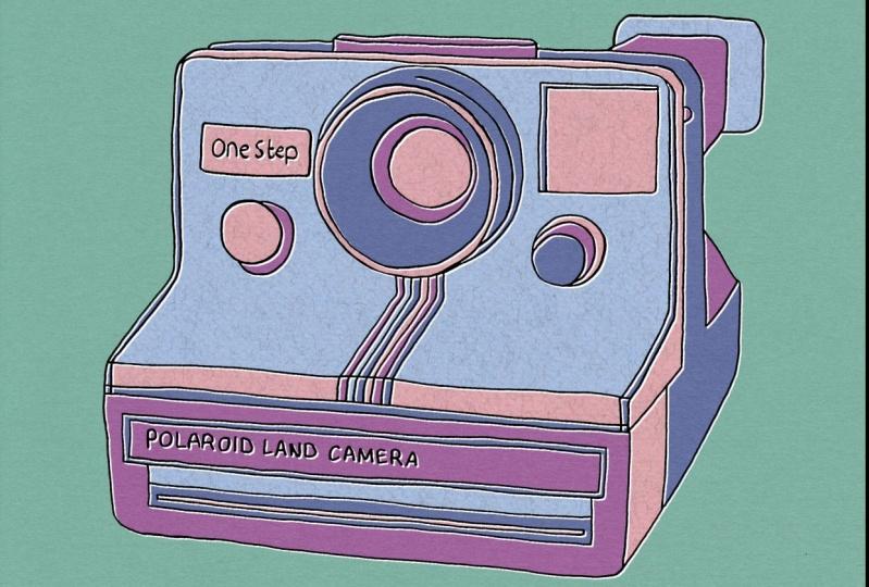 Pop Art Polaroid Land Camera