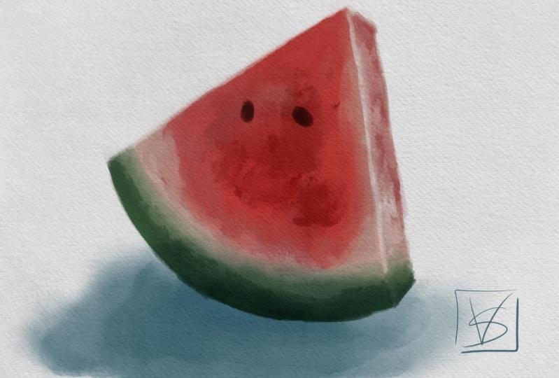 Water-color-melon