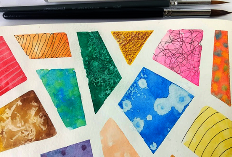 Unusual tools for watercolor