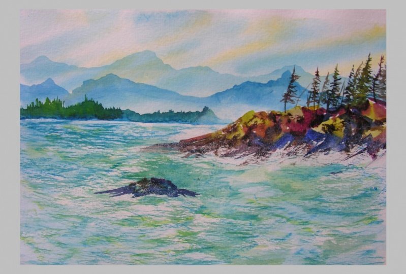 Experience Watercolours - Stormy Seas