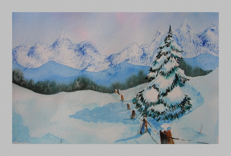 Experience Watercolours , Winter Wonderland