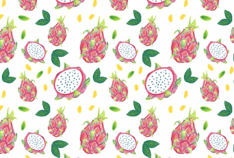 Dragonfruit Pattern + Geometric