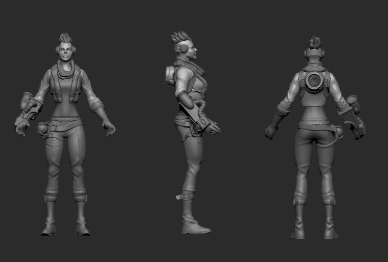 Female character modelling Zbrush