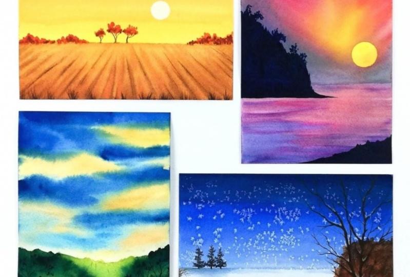 My 4 landscape paintings