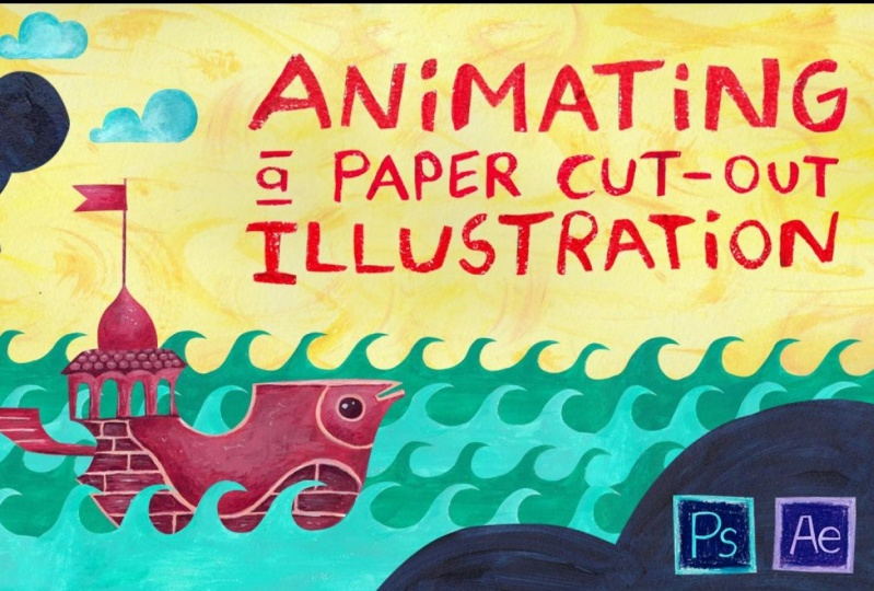 Animating a Paper Cut-Out Illustration