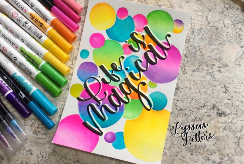 Rainbow Bubbles (Lyssa's Letters)