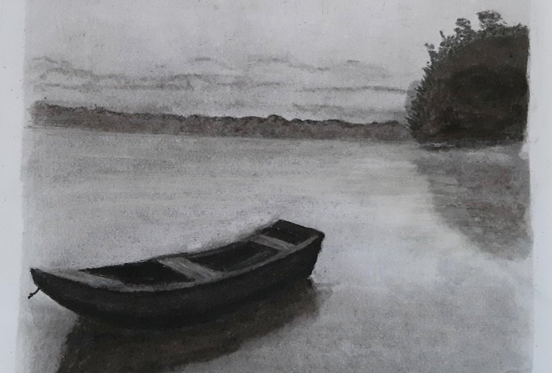 The boat - charcoal project