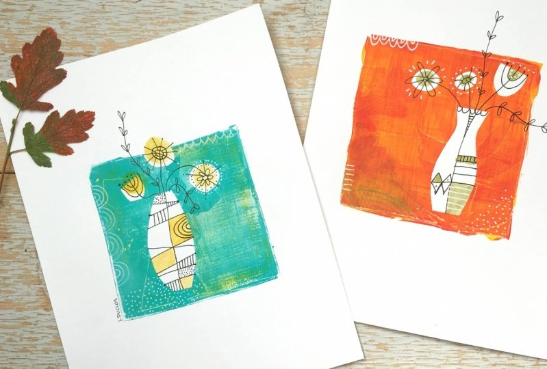 Monoprint Bouquet