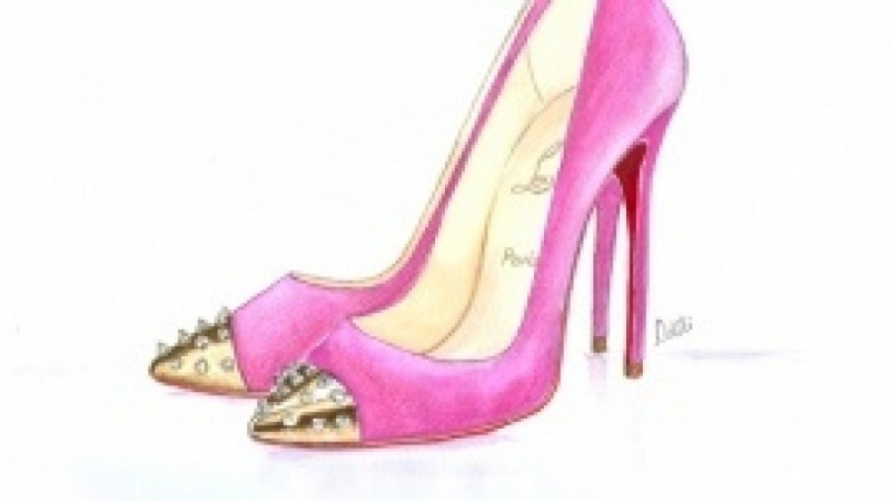 My Watercolored Shoes!