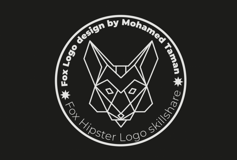 Practice Project For Design a Hipster Logo