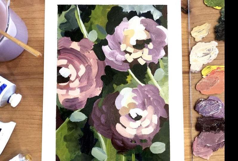 Modern Abstract Flowers for Beginners