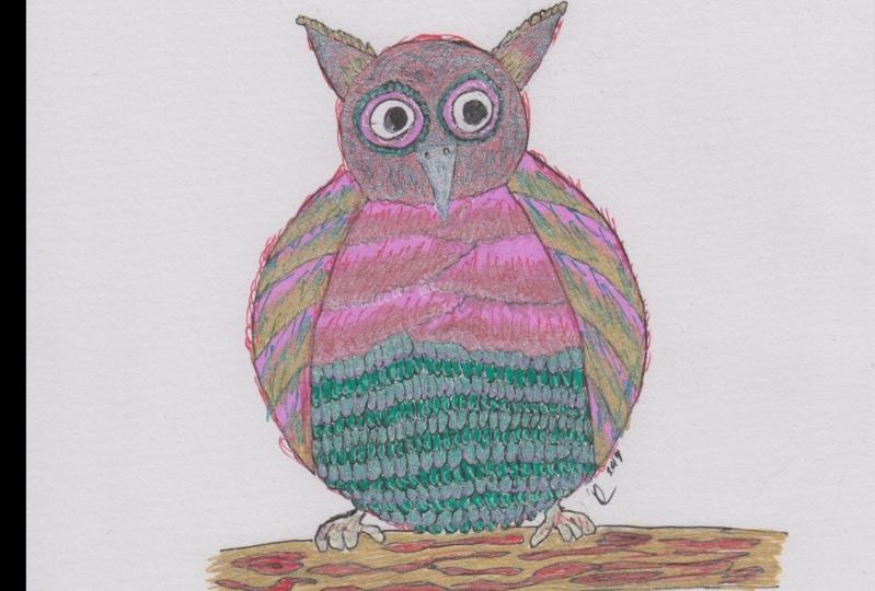 Cute Owl Using Gel Pens