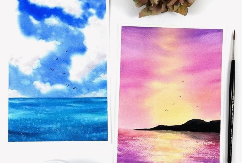 My seascape exercises