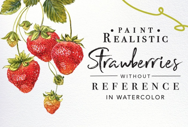 Learn to Paint Realistic Strawberries Without Reference