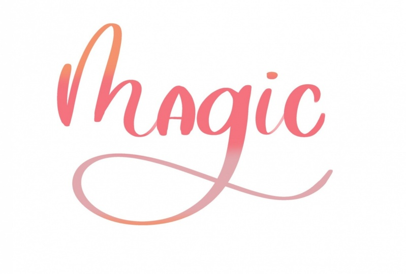 Magical ombré lettering