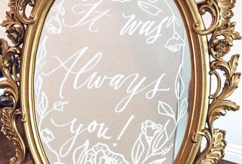 Mirror Calligraphy Quote
