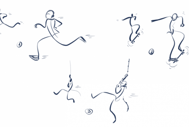 Doodle simple human figures with Cathy Wu