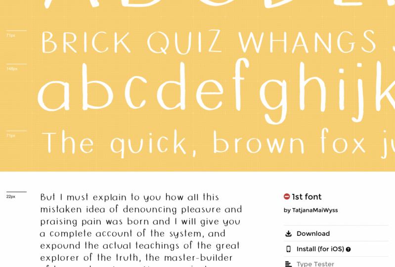 1st font!