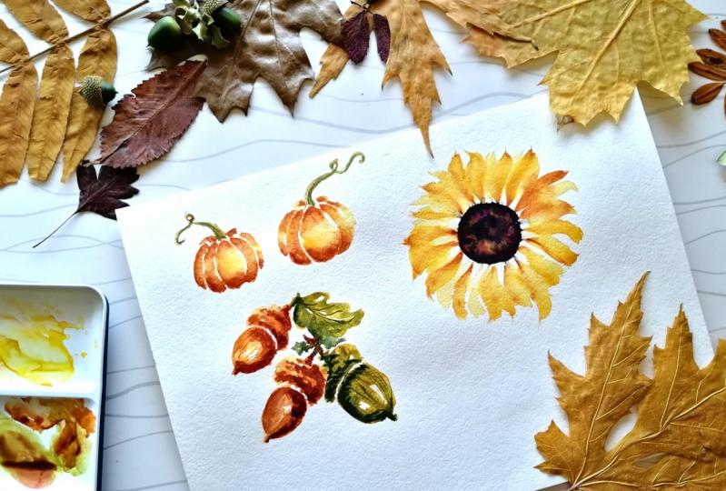 Autumn in Watercolors