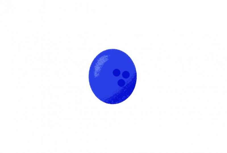 A squishy bowling ball