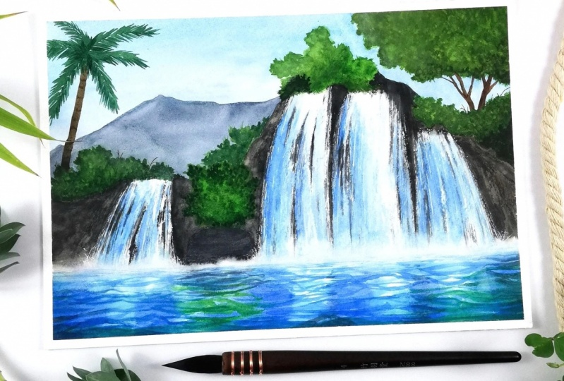 My first waterfall