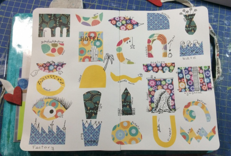 Alphabet shapes and doodles :)