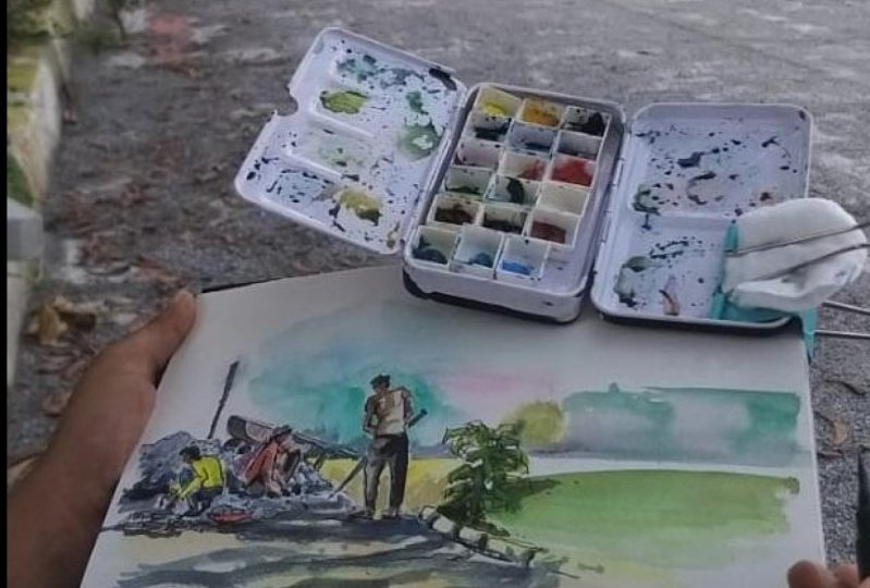 Two Sketches - Bangalore and Chiang Rai