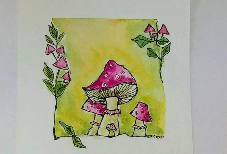 Whimsical Illustrations in Watercolour and Ink pen