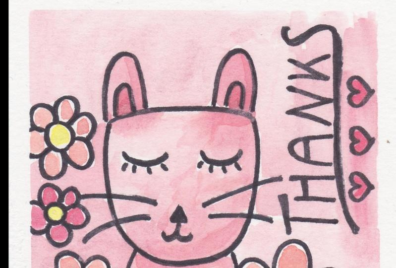Garden Cat Thank You Card