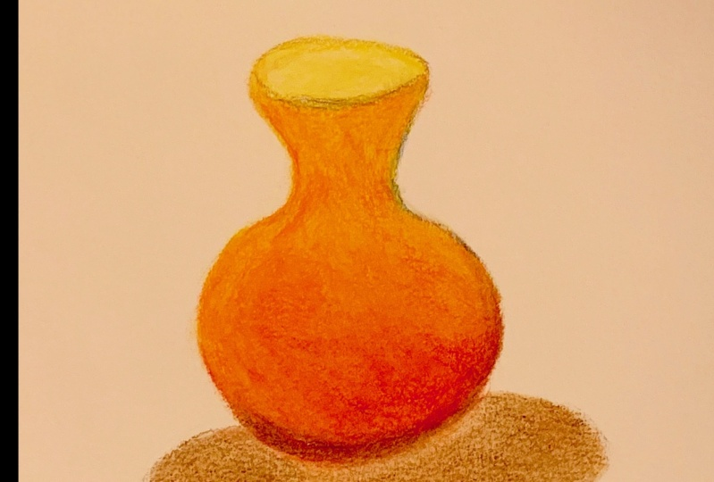 A flower vase in Prismacolor pencil