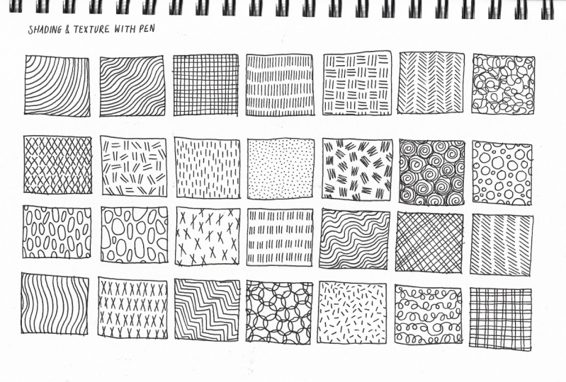 Shading and Textures with a Pen