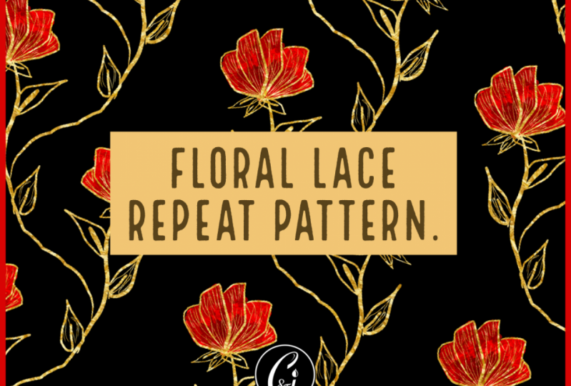 Floral lace in iOrnament app.