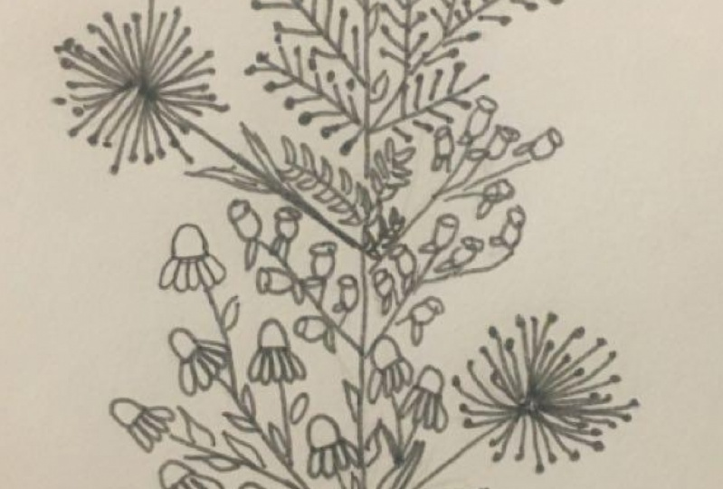 Flower Doodles - Letter T