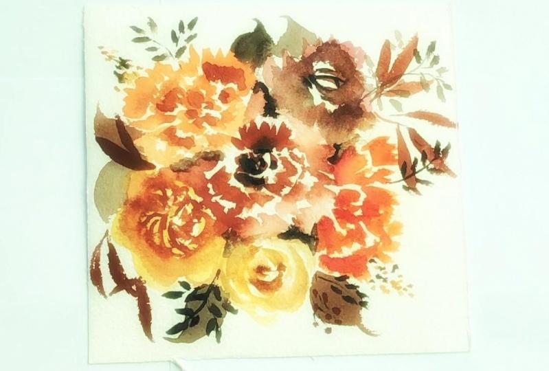 Autumn themed floral bouquet