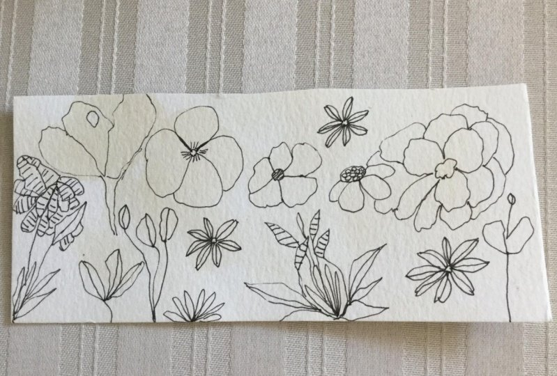 Doodles on a Tea Stained background