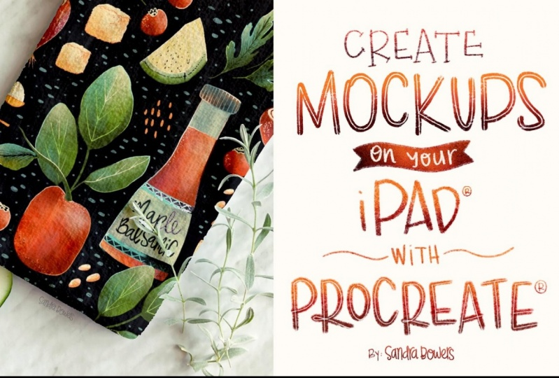 Sample Project for Create Mockups on your iPad with Procreate Class