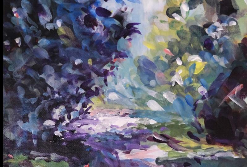 The Lane - Acrylic Painting