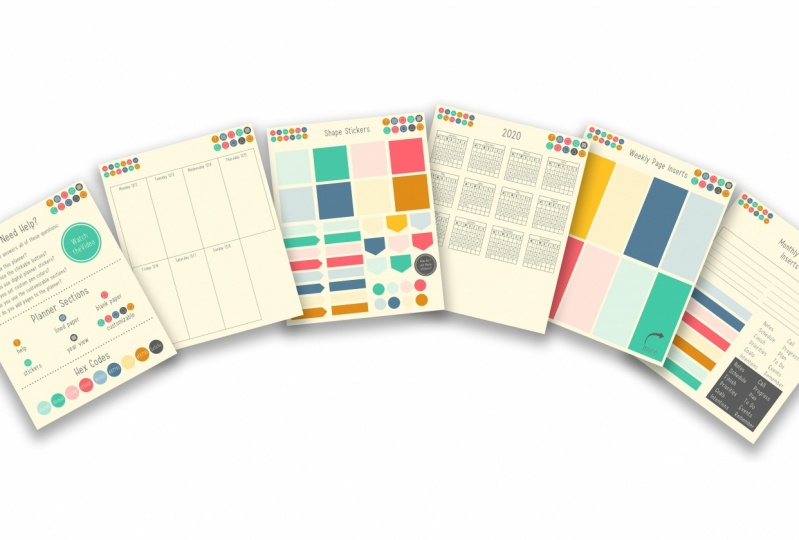 Customizable Digital Planner Made with Vectors