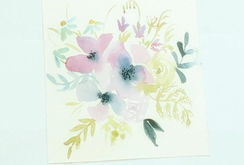 Vintage loose florals in watercolor