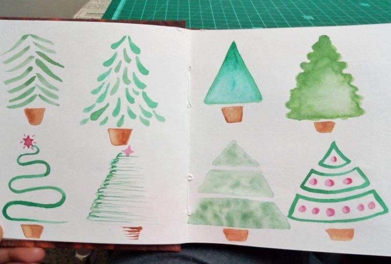 Watercolor Holidays: Christmas Tree